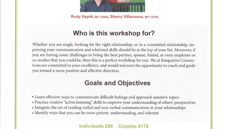 Rudy Hayek presents Communication & Relationship Workshop