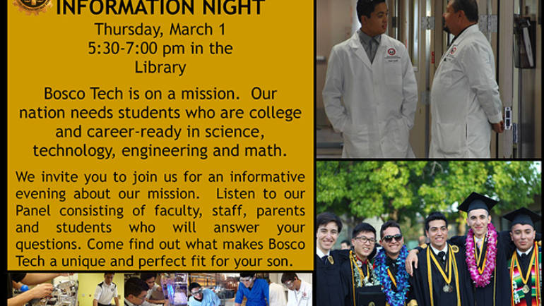 Bosco Tech Information Night