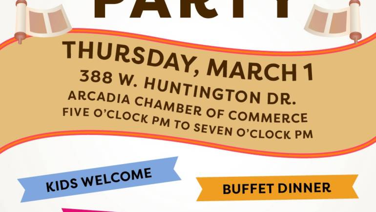 Tomorrow!  Chabad of Arcadia: Community Purim Party