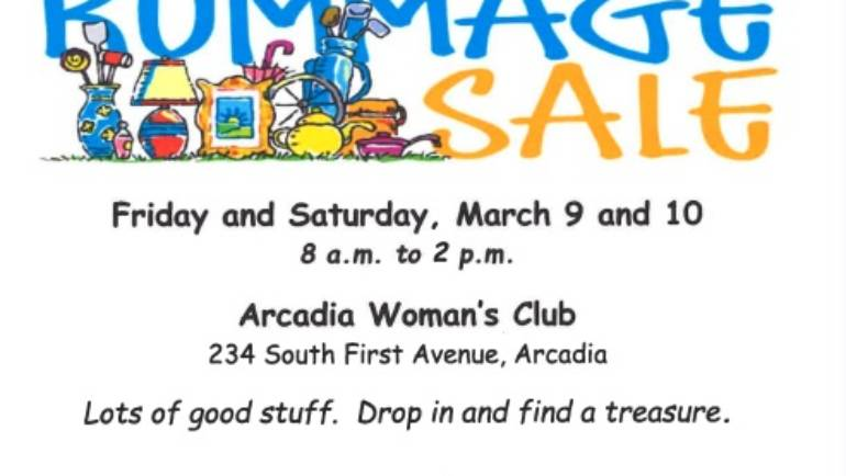 Arcadia Woman's Club Rummage Sale