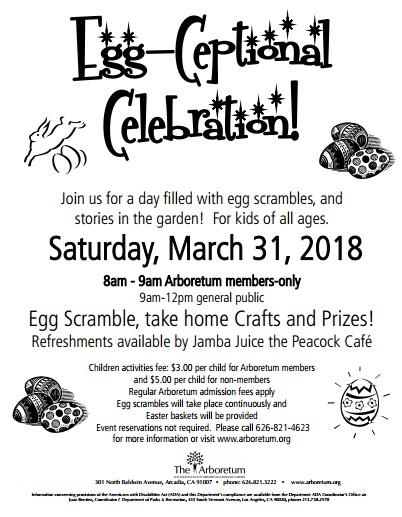 Egg-Ceptional Celebration at the Arboretum