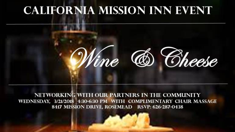 California Mission Inn Wine & Cheese Event