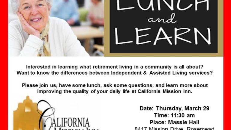 Lunch and Learn at California Mission Inn