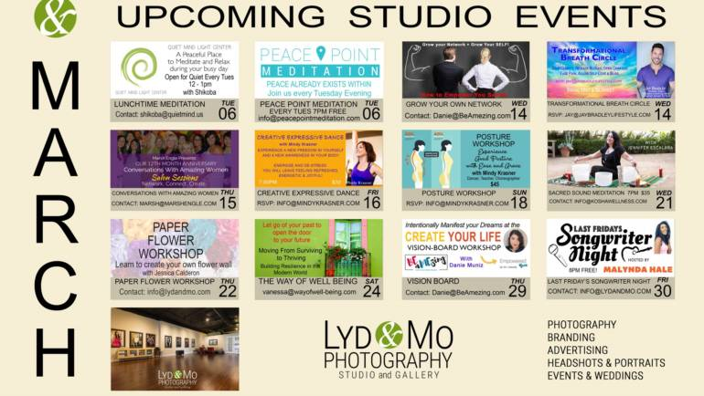Lyd & Mo Photography March Studio Events