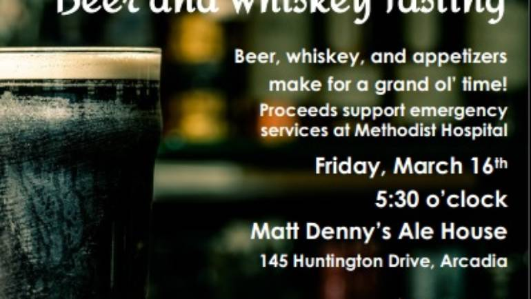 St Patrick's Day Beer and Whiskey Tasting with Methodist Hospital