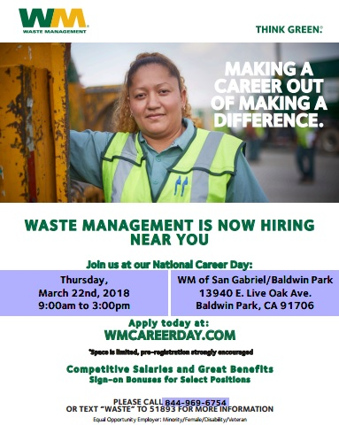 Waste Management is Hiring