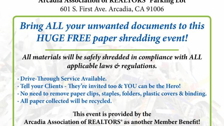 AAR Free Paper Shredding Day