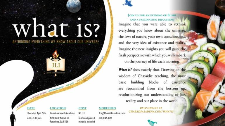 Chabad presents 'What is?'