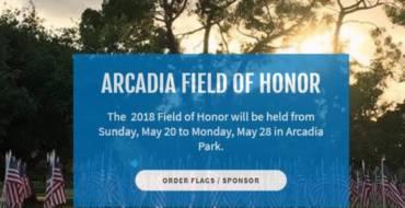 Arcadia 2018 Field of Honor