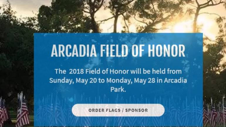 Arcadia 2018 Field of Honor