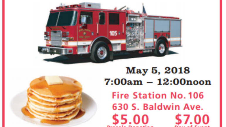 Arcadia Firefighters' Annual Pancake Breakfast