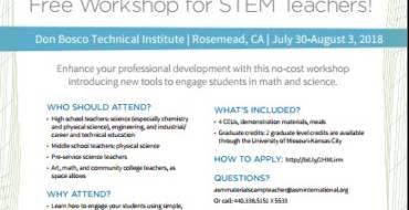 Bosco Tech STEM Workshop for Teachers