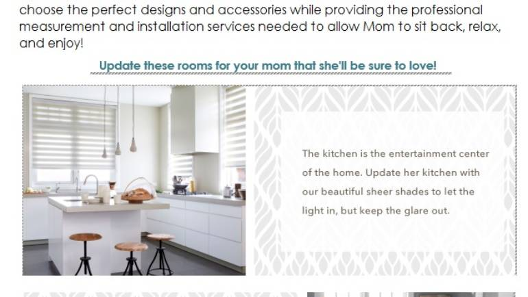 Still time to celebrate Mom with Budget Blinds