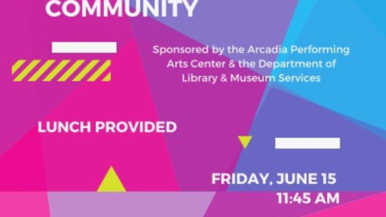 Conversation about Arts at Arcadia Library
