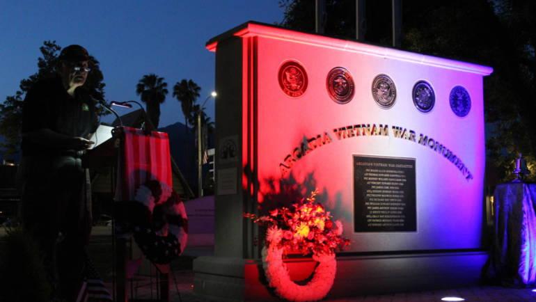 Arcadia Vietnam Monument shines a light on Veterans
