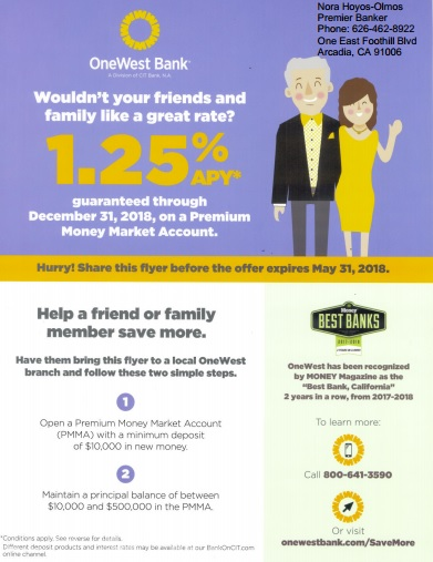 Help a friend or family member save with OneWest Bank