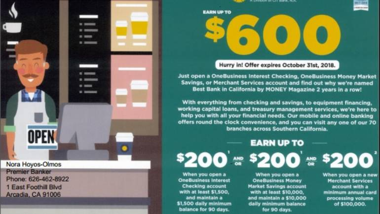 Earn up to $600 at OneWest Bank