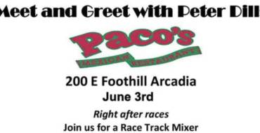 Meet and Greet with Peter Dills at Paco's