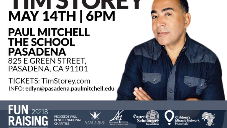 See Tim Storey at the Paul Mitchell 'The School' Pasadena