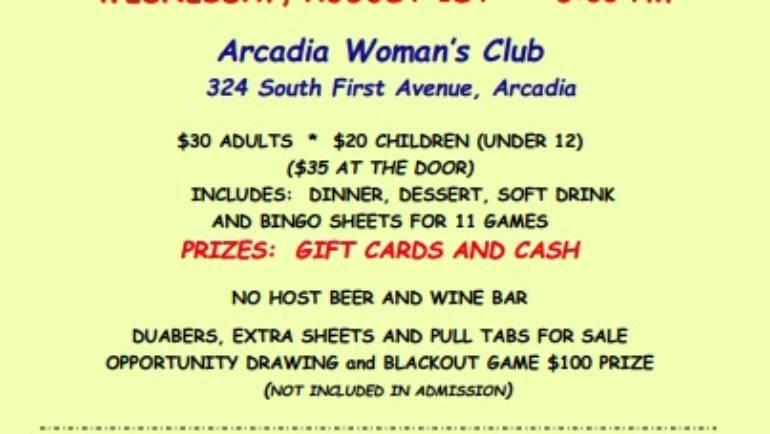 Beach Bingo Blast at the Arcadia Woman's Club