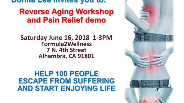 Lifewave Reverse Aging and Pain Relief Demo