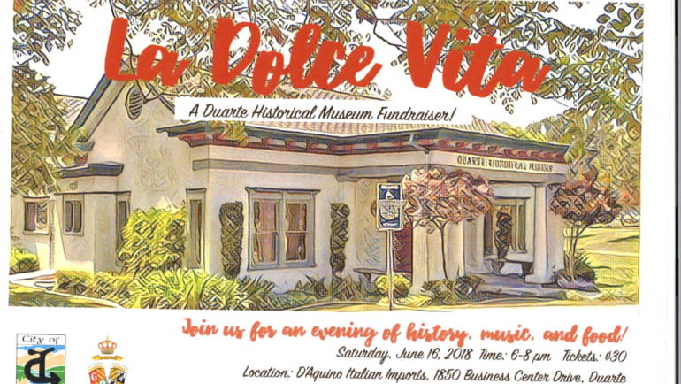 D'Aquino hosts La Dolce Vita with Duarte Historical Museum