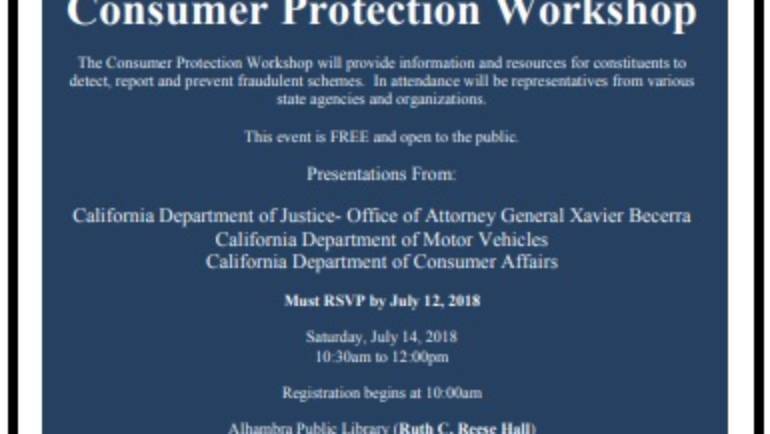 Assemblymember Chau Consumer Protection Workshop