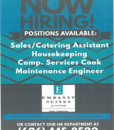 Embassy Suites is hiring!