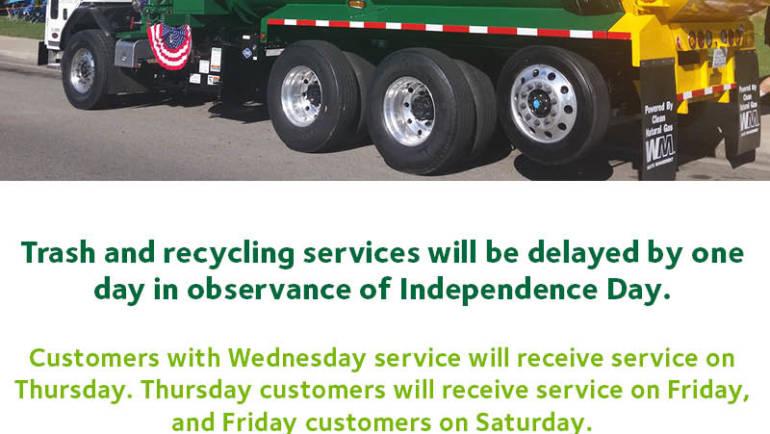 Waste Management Trash Pickup Delay
