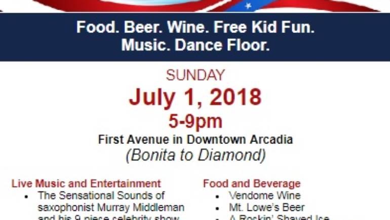 Downtown Arcadia's Patriotic Festival