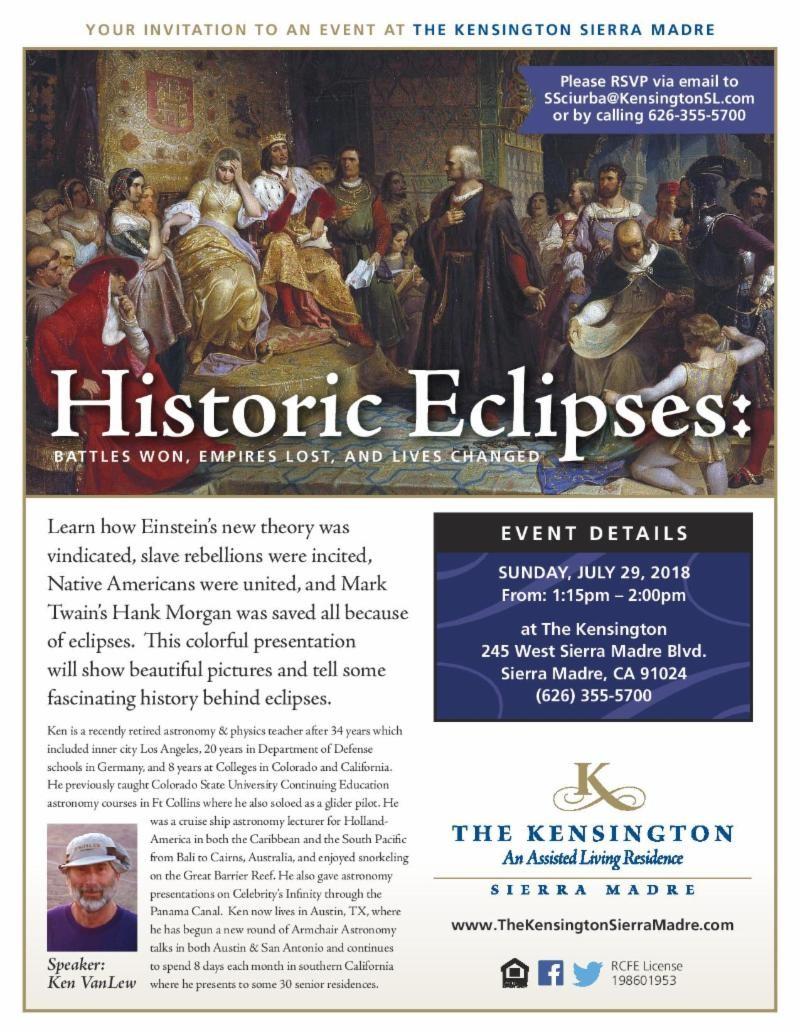 The Kensington: Historic Eclipses