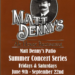 Matt Denny's Summer Concert Series