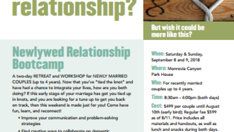Newlywed Relationship Bootcamp with Rudy Hayek