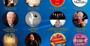 Arcadia Performing Arts Foundation 2018 -2019 season