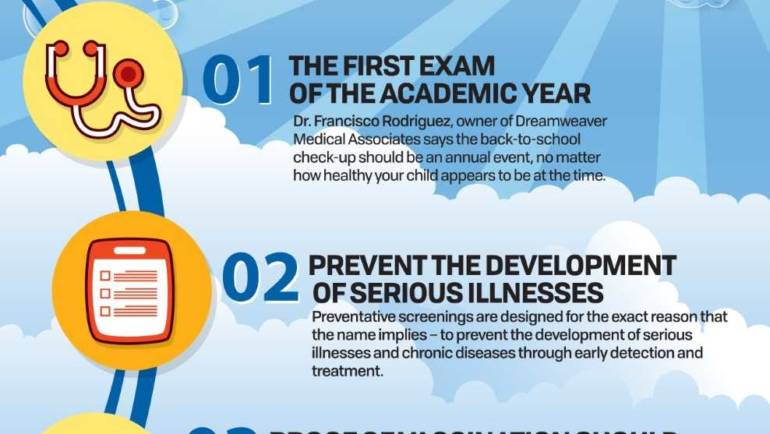 Get a Back to School exam with Dreamweaver Medical Associates