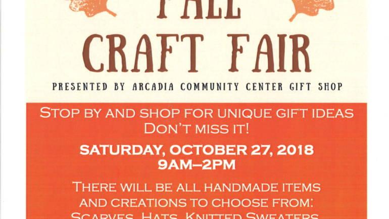 Arcadia Senior Services Fall Craft Fair