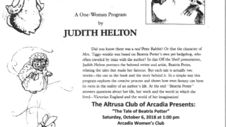 Altrusa Club presents The Tale of Beatrix Potter