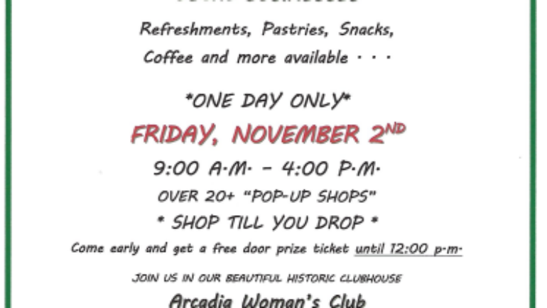 Arcadia Woman's Club Holiday Boutique