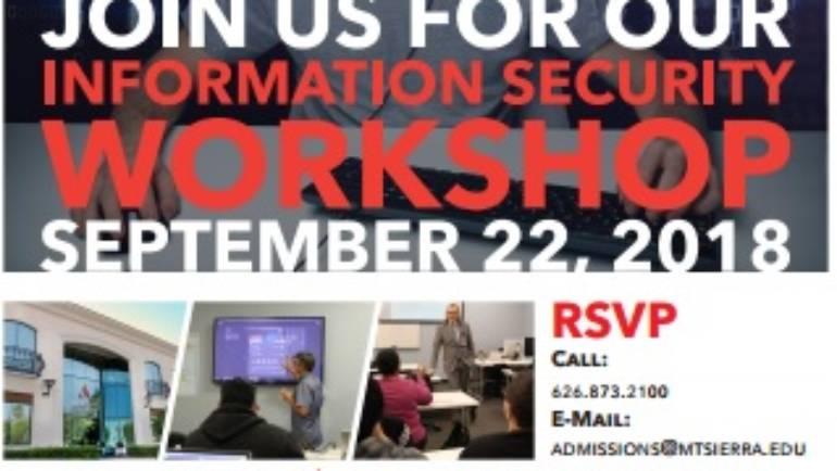 Mt Sierra College Information Security Workshop