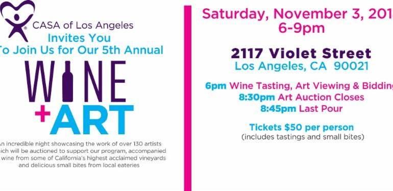 CASA Wine + Art is Saturday, November 4