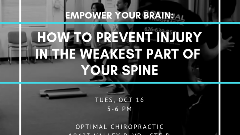 Empower Your Brain workshop with Optimal Chiropractic