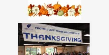 Help people in need this Thanksgiving with Foothill Unity Center
