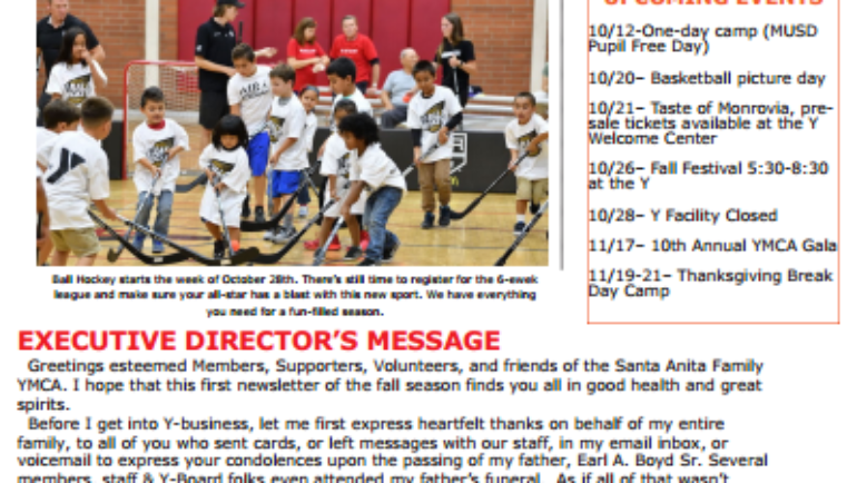 Santa Anita Family YMCA – The Sentinel