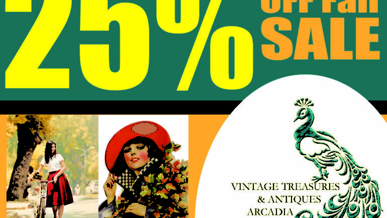 25% off Fall Sale at Vintage Treasures