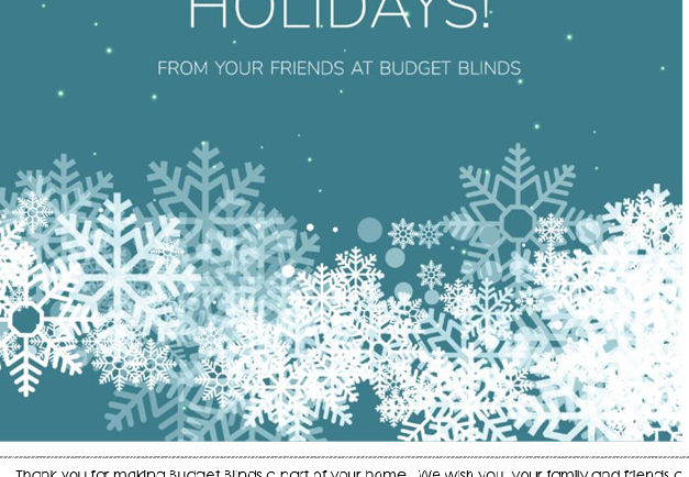 Happy Holidays from John Sun of Budget Blinds