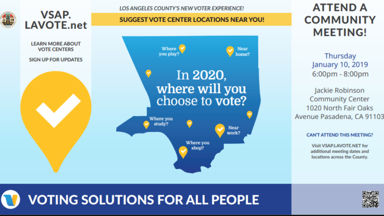 Learn about LA's New Voter Experience at a Community Meeting