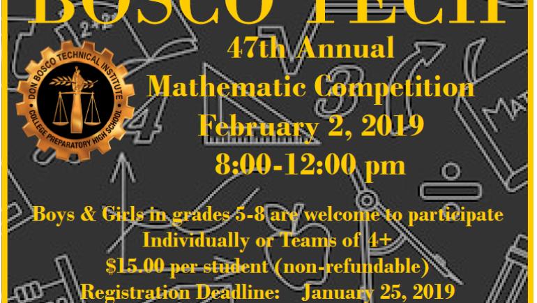 Bosco Tech hosts Math Competition
