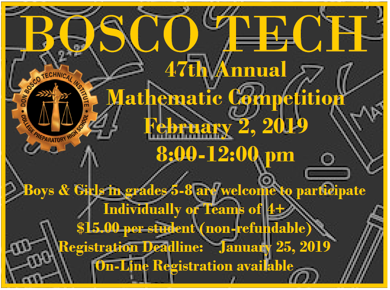 Bosco Tech hosts Math Competition