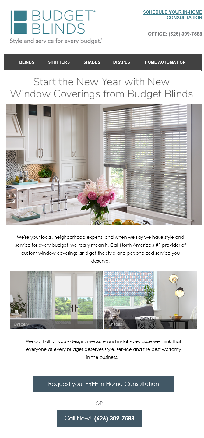 Start the New Year with New Window Coverings from Budget Blinds