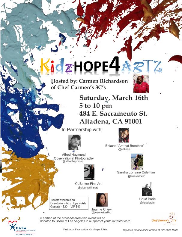 Chef Carmen hosts KidzHope4Artz event benefiting CASA of Los Angeles